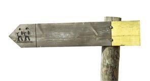 Signe en bois de sentier piéton Photographie stock