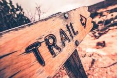 Signe en bois de traînée Photo stock