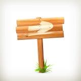 Signe en bois, flèche Images stock