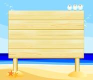Signe en bois personnalisable Photo libre de droits