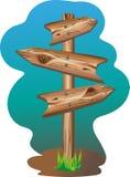 Signe en bois pour des bandes dessinées Photo libre de droits