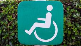 Signe en bois vert d'incapacité Photo stock