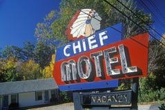 Signe en chef de motel photographie stock