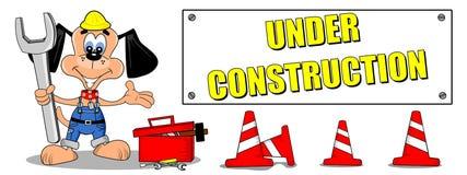 Signe en construction Image libre de droits
