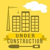 Signe en construction Photo stock