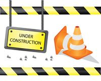 Signe en construction Image stock