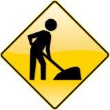 Signe en construction de site Web Image libre de droits