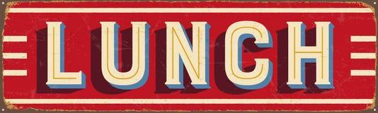 Signe en métal de vintage - déjeuner Images libres de droits