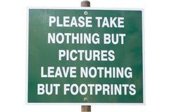 Signe environnemental d'économie Image libre de droits