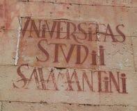 Signe Espagne d'université d'Universidad De Salamanque Photo stock