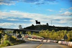 Signe espagnol de taureau Photos libres de droits