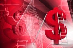 Signe et échelle du dollar Photo libre de droits
