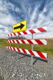 Signe et barrière de détour images libres de droits
