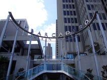 Signe et escalier de centre d'Embarcadero Image stock