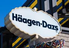 Signe et extérieur de Haagen-Dazs Photo stock