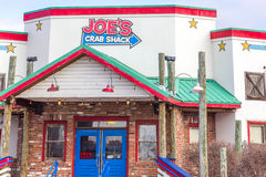 Signe et extérieur de restaurant de Shack de crabe du ` s de Joe Photos libres de droits