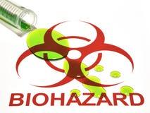 Signe et flaque de Biohazard Photographie stock libre de droits