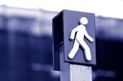 Signe et symbole de croisement d'homme Image libre de droits