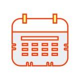 Signe et symbole de vecteur d'icône de calendrier mural d'isolement sur le fond blanc, concept de logo de calendrier mural illustration stock