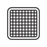 Signe et symbole de vecteur d'icône de grille d'isolement sur le fond blanc, G illustration de vecteur