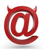 Signe exceptionnel d'email Photo libre de droits