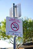 Signe extérieur sans fumée de secteur images libres de droits