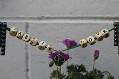 Signe féerique d'amour de jardin de Faerie Photographie stock