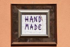 Signe fabriqué à la main photo libre de droits