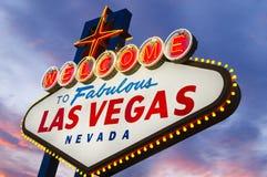 Signe fabuleux de Las Vegas Photographie stock libre de droits