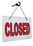 Signe fermé Images stock