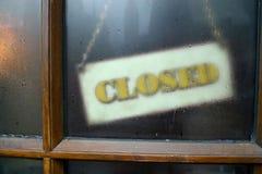 Signe fermé Photos stock