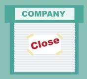 Signe fermé - affaires qui ont fait faillite illustration stock