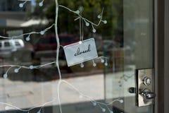Signe fermé de boutique Photographie stock