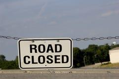 Signe fermé de route Image libre de droits