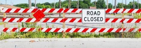 Signe fermé de route Photos libres de droits