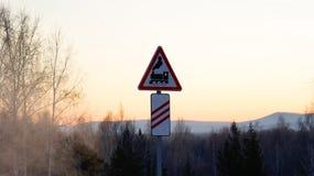 Signe ferroviaire image stock