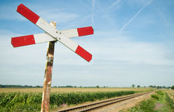 Signe ferroviaire Photos stock
