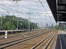signe ferroviaire de transport, personne, jour, Photos libres de droits