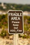 Signe fragile de zone Image libre de droits