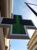 Signe français de pharmacie Image stock