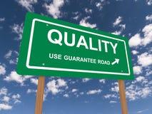 Signe garanti par qualité Photos stock