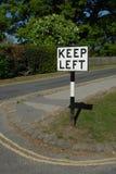 Signe gauche de subsistance Image stock
