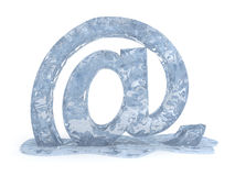 Signe gelé de courrier d'e Photo libre de droits