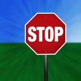 Signe graphique d'arrêt Photo stock