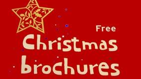 Signe gratuit de brochures de Noël images stock