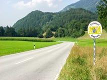 Signe gratuit de la Bavière (Freistaat Bavière) Photo libre de droits