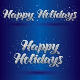 Signe greeteing de vecteur bonnes fêtes Images libres de droits