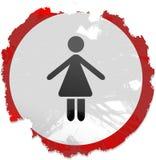 signe grunge de dames illustration de vecteur