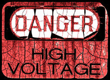 Signe grunge de danger Photographie stock