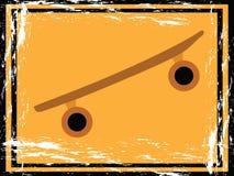 Signe grunge de planche à roulettes Photo stock